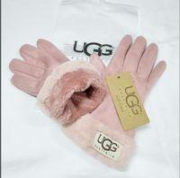golf eldivenleri kış toptan satış-Moda kadın Yeni Marka Kış ve Sonbahar Kaşmir Eldivenler için Eldiven Güzel Kürk Topu ile Açık spor sıcak Kış Eldiven eldiven