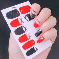 ingrosso avvolge pieno-3D Copertura Completa Nail Art Sticker Decal Slider Manicure Avvolge Decal Tool Tip Sticker Manicure Nail Decorazione RRA833