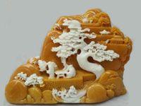 ingrosso figure di giada-Raccogli la vecchia statua di figura di paesaggio di pietra naturale intagliata a mano cinese