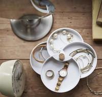 bague style japon achat en gros de-Boîte à bijoux 4 couches organisateur de bijoux pour femmes filles - Support pour boucle d'oreille Bague Collier Bracelet Boîte de rangement Case Style Japon