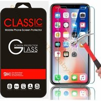 Wholesale film protect online – Tempered Glass for iphone Plus X XR XS Max Screen Protector Protect Film For Htc samsung s6 s7 s8 s9 High Quality Retail