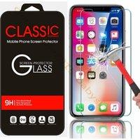 película protectora al por mayor-Vidrio templado para iphone 5 6 7 8 Plus X XR XS Max Protector de pantalla Película protectora para Htc samsung s6 s7 s8 s9 Venta al por menor de alta calidad