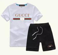 ingrosso vestiti sportivi dei neonati-New Style abbigliamento per bambini per ragazzi e ragazze Sport Suit Baby Infant vestiti manica corta Kids Set