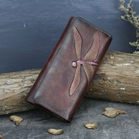 Wholesale cowhide woman wallet brand for sale - Fashion Wallet Women New Brand Designer Full Grain Leather Wallets Hasp Ladies Clutch Carteira Purse Trifold Bifold Casual Long Purse