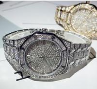 reloj helado completo al por mayor-Caliente exquisito reloj de lujo para hombre Moda helado Relojes llenos de diamantes para hombres Hip Hop Relojes de hombres