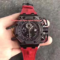 ingrosso migliore orologio automatico del cronografo-Limited Best Factory V2 42mm Survivor 26165IO.00.A002CA.01 Ceramica 12 @ Cronografo svizzero ETA 7750 Movimento automatico Mens Orologi