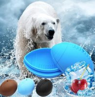Wholesale ice cube trays shapes for sale - Group buy silicone Ice Cube Mold Rugby Football shape Ice Tray Mold Mould Bar Whisky Mini Ice Tray LJJK1381