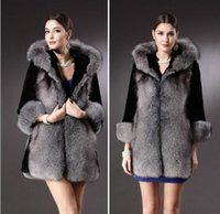koyunkuşu tilki kürkü toptan satış-2020Ladies Kürk ve Sahte Kürk ve Coats Sahte Sheepskin Coat Kabarık Fox Kürk Moda Yüksek Kalite Giyim