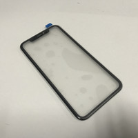 ingrosso set di barre di vetro-Per iPhone XR Grado A +++ Lente frontale in vetro esterno con cornice OCA + cornice