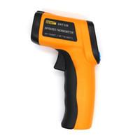 infrared lazer nokta termometre toptan satış-Yeni El Lazer LCD Dijital IR Kızılötesi Termometre 550 Sıcaklık Ölçer Gun Backlight Noktası-50 ~ 550 Derece Temassız Termometre