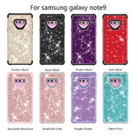Wholesale shining armor online – custom 3 in1 phone case Shockproof Hybrid Heavy Duty Glitter Bling Shining Silicone Armor Case For Samsung S20 for iphone promax free ship