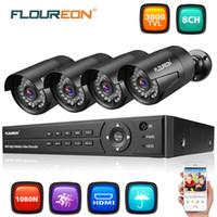 ingrosso dahua channel nvr-FLOUREON 1 X 8CH 1080P 1080N AHD DVR + 4 X kit di sicurezza telecamera 1080P per esterni US