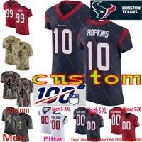 hopkins jersey al por mayor-Houston masculino 71 Tytus Howard Watt Hopkins Watson Clowney Gillaspia Johnson Jr. Roby Texans Navy Vapor Untouchable Custom Elite Jersey