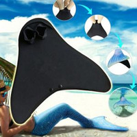 889e86ab616 Kids Swimming Fins Training Flipper Mermaid Swim Fin Swimming Foot Flipper  Diving Feet Tail for Children LJJR263
