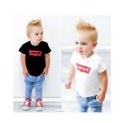 ropa vieja para niños al por mayor-2019 nuevo diseñador de la marca marca 2-9 años de edad Bebés niños camisetas Camisetas camisa de verano Tops algodón niños Camisetas niños Ropa 2 colores