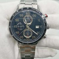 наручные часы калибра 16 оптовых-2019 мужские наручные часы 44 мм размер CAL 1887 автоматическое скольжение гладкие часы черное лицо корпус из нержавеющей стали часы Калибр 16