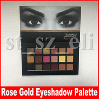 Wholesale beauty rose cosmetics for sale - Group buy 18 Colors Eyeshadow Palette Rose Gold Textured Palette Makeup Eye shadow Beauty Palette Matte Shimmer Brand Cosmetics