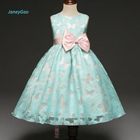 Wholesale baby girl dresses price for sale - Group buy JaneyGao Flower Girl Dresses New Pageant First Communion Dresses for Little Baby Wedding Party Sleeveless Bow Cheap Price