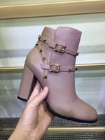 Wholesale grey pumps for women resale online - Hot Sale New Fashionable Women Shoes Zapatos Mujer Imitation Leather Short Pump Boots and Shoes for Girls High Heel Hot Sale Shoes