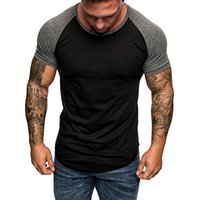 Wholesale shirt muscle xxl for sale – custom Newest Male Sport Training Shirt Running Tshirts Gyms Tight Mens Fitness Homme Body building Tshirt Male Muscle Slim Fit Tees Tops