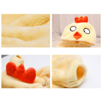 Wholesale chicken ornaments resale online - Pet Autumn Winter Flannel Four Legs Costume for Dogs Puppy Thickened Hoodie Coat Yellow Chicken For Puppy