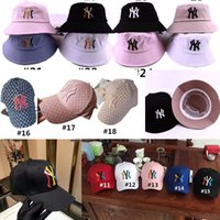 Wholesale camp bucket resale online - Designer Hats NY Yankees Baseball Caps Brand Crusher Bucket Hat Sports Casual Snapback Hat Logo Camp Cap Fitted hats For Men Women C61405