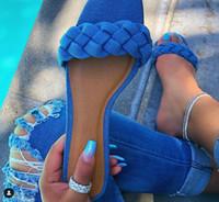 Wholesale flatform sandals resale online - Summer Women Sandals Mujer Cut Out Ladies Flatform Sandals Outdoor Holiday Slides