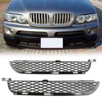 Wholesale bmw bumpers resale online - Car Front Upper Bumper Lower Grilles A Pair Fits For BMW X5 E53 Facelift WA7 DDA283