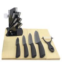 lâmina acrílica venda por atacado-YKC faca de cozinha Preto Lâmina Kicthen Ceramic Knife Set 3 \