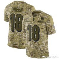 Cincinnati 18 A.J. Green Jerseys Bengals 2018 Salute to Service USA Flag  Fashion Impact Lights out Black Color Rush Drift Camo Olive Limited a378db7c7