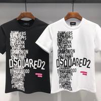 ingrosso mens casuale camicia modello del collare-2019 New casual Uomo T-shirt Hip Hop Cotton Blend Abbigliamento da uomo Round collare lettera modello T-shirt Top Summer uomo manica corta T-Shirt