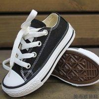 marka tuval dantel ayakkabıları toptan satış-Yepyeni Conversedd çocuk kanvas ayakkabılar Boş Kız güz Hotsales bahar beyaz Dantel Boy bebek Çocuk ayakkabıları sneakers