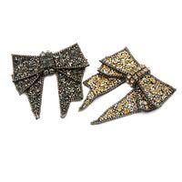 пятно украшения оптовых-10.9*11cm Beautiful Bow Decorations Sandals High Heels Shoes Button Clip DIY Manual Metal Shoe Decorations