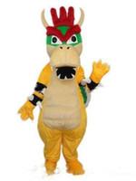 süper mario maskot kostüm toptan satış-2019 Yüksek kalite Profesyonel özel kuba Charizard Maskot Kostüm Süper Mario Ejderha Dinozor Karakter Giysileri