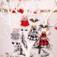 árvore de natal de brinquedo venda por atacado-Pingentes Asas Pingentes Christmas Tree Pendant tecido bonecas da árvore do Xmas Toy Dolls decorações do ano novo 2020