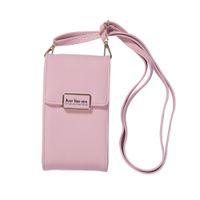 modetelefon mini großhandel-Damenmode Umhängetasche einfache einfarbige lange Handytasche Messenger Mini Handtasche