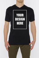 ingrosso v immagini delle maglie a collo-T-shirt con scollo a V personalizzata da uomo di alta qualità Personalizza la tua immagine Text Photo Top Brand shirts jeans Stampa