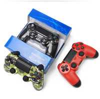 Wholesale wireless controller vibration online - Bluetooth Wireless PS4 Controller for PS4 Vibration Joystick Gamepad PS4 Game Controller for Sony Play Station With box HOT selling