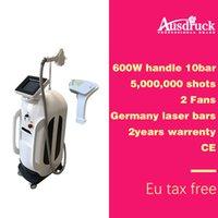 ingrosso macchina germania-Pro 808nm macchina di depilazione laser a diodi 600 W potenza congelamento veloce indolore 15mm * 15mm Germania barre fascio maniglia