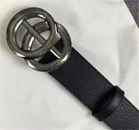 ceintures homme s g achat en gros de-maintenant Designer Ceinture de haute qualité en peau de vache G # double boucle en cuir véritable ceinture de créateur masculin pour hommes femmes taille large 2.0 3.4 3.8 cm