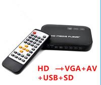 Wholesale player media vga hdmi resale online - Autoplay Mini P HD Media Player With HDMI AV VGA USB SD MMC Support Mkv Mp3 Mp4 Player HDD Full HD Media Player Video Box