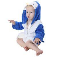 neugeborenes baby-baumwolltuch großhandel-Tier Baby Mit Kapuze Bademantel Badetuch Baby Fleece Decke Neugeborenen Kinder Kinder Säugling Baden JY-018