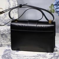 bolsos de moda al por mayor-Bolsos de diseño de moda de cuero retro de un solo hombro hebilla con hebilla bolsa paquete diagonal bolso del diseñador con caja
