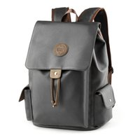 Wholesale soft computer cover resale online - Brand Backpack Women Men Bags Designer Double Shoulder Bag Fashion PU Leather Schoolbags computer bags
