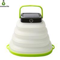 mini linterna solar luces al por mayor-luz de colores blanco cálido Solar LED de luz de camping al aire libre plegables luces linterna LED Linterna portátil Mini Carpa lámpara de luz de emergencia