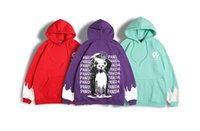 pandabild-sweatshirt großhandel-Mens Fashion Panda Print lose beiläufige Straße Hoodies Hip Hop Pullover Letter Print Male Sweatshirts Lange Hülsehoodies