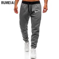 ingrosso pantaloni di marca-2018 Pantaloni da jogger di alta qualità Uomo Fitness Bodybuilding Pantaloni per corridori Abbigliamento di marca Autunno Pantaloni da lavoro Pantaloni da lavoro
