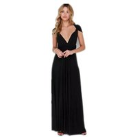 resmi uzun gelinlik elbiseleri toptan satış-Yeni Stil Kadın Elbise Cabrio Çok Yönlü Wrap Zarif Gelinlik Örgün Uzun Maxi Elbise Sundress Boyut S-XL