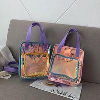 ingrosso negozio laser-Alta qualità Nuovo famoso designer di moda Lady Hologram Laser borse spalla tote borse donna shopping bag per femmes Trend europeo