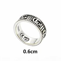 Wholesale antique rings for sale - Group buy 2020 the newluxury jewelry men rings antique silver G designer rings engraved with stripe titanium steel engagement rings for co